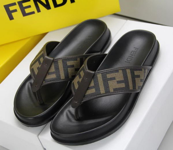 Fendi Leather Slippers FD059CK Brown