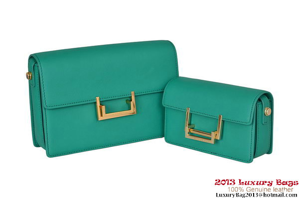 Yves Saint Laurent Classic Small and Medium Lulu Bag in Green Leather