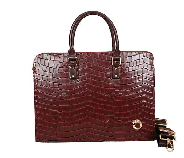 Cartier Croco Leather Document Holder 8512 Wine