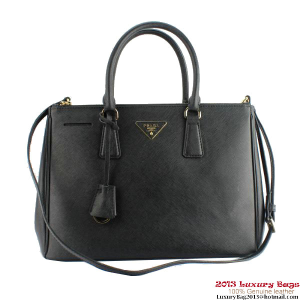 2013 Prada Saffiano Calf Leather Tote Bag 2274 Black