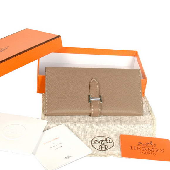 Hermes Bearn Japonaise Original Leather Wallet H8033 Grey