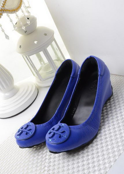 Tory Burch Wedge Heel Leather TB1494 Blue