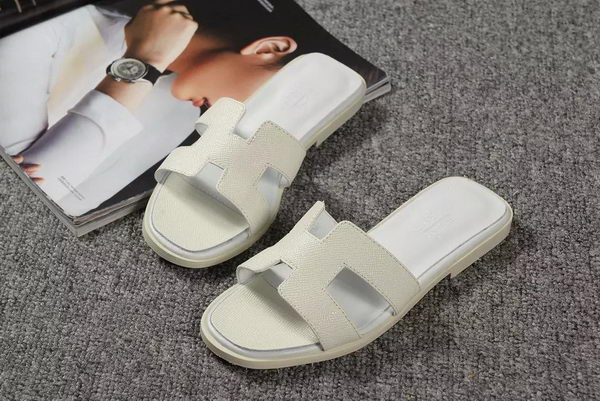 Hermes Slipper Togo Leather HO060 White