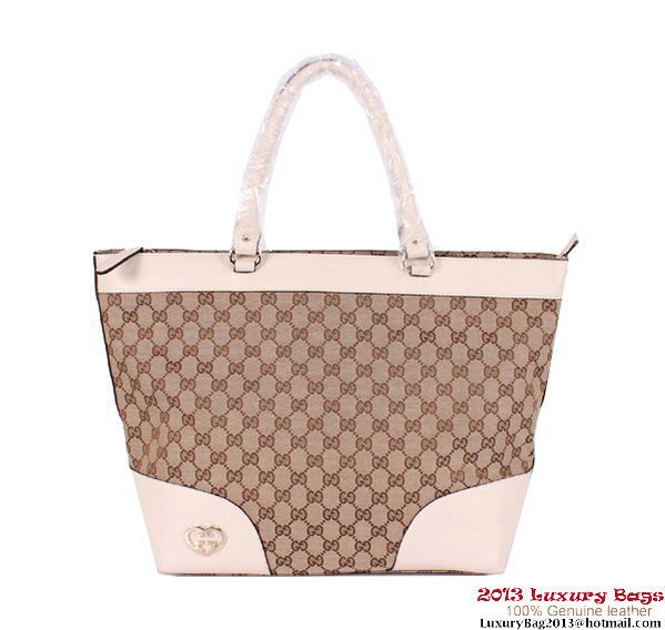 Gucci Lovely Large Tote Bag 257071 Off-White