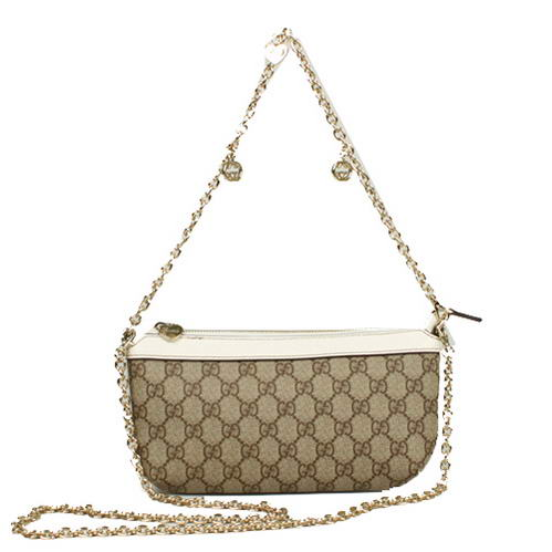 Gucci GG Fabric Evening Shoulder Bag 280068 White