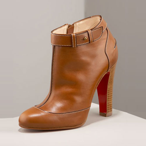Christian Louboutin Brown calf leather Bootie