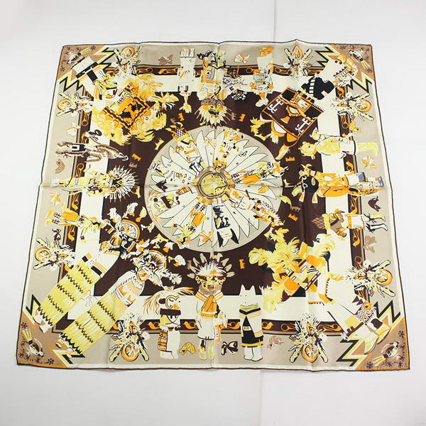 Hermes Scarves Silk Broadcloth WJH055 Apricot