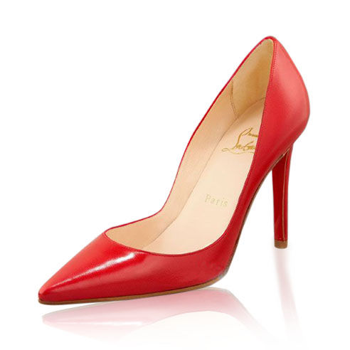 Christian Louboutin Red Leather Patent Pigalle Pumps