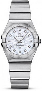 Omega Constellation Brushed Quarz Small Watch 158628AT
