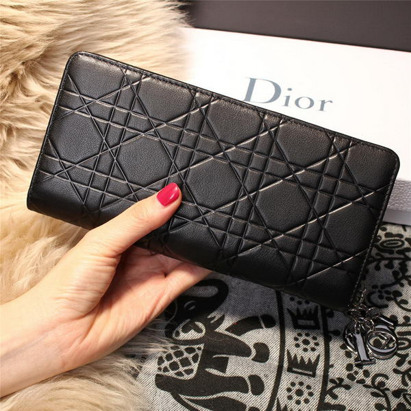 Dior Escapade Wallet in Sheepskin Leahter D1875 Black