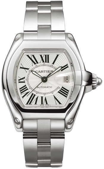 Cartier Roadster Stainless Steel Mens Automatic Wristwatch-W62025V3