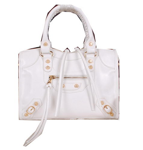 Balenciaga Small Gaint Gold Part Time Bag 90355 White