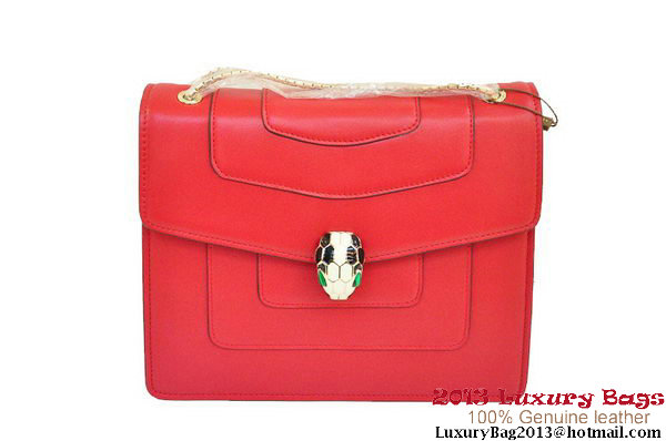 BVLGARI Shoulder Bag Nappa Leather B35292 Red