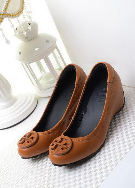 Tory Burch Wedge Heel Leather TB1494 Brown