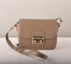 Miu Miu Mini Shoulder Bags Coffee Cow Leather 7429