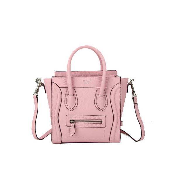 Celine Luggage Nano Bag Grainy Leather CL88029 Pink