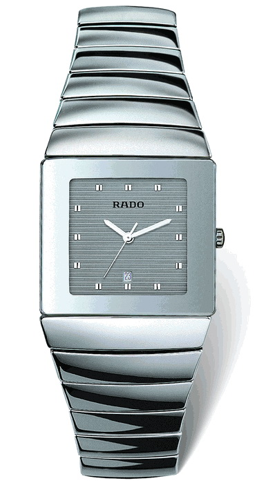 Rado Sintra Series Platinum-tone Silver Ceramic Mens Watch R13432122