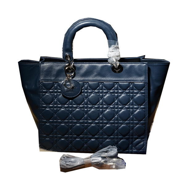 DIOR Soft Tote Bag in Original Leather D6500 RoyalBlue