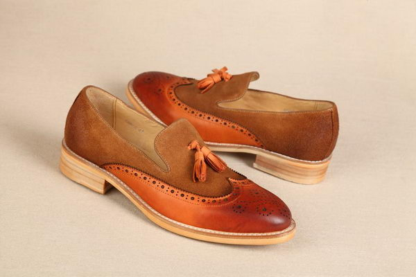 Hermes Suede Leather Casual Shoes HO0338 Brown