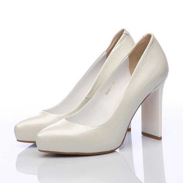 Prada Patent Leather 100mm Pump PD295 White