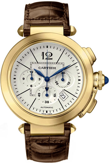 Cartier Pasha Wonderful 18k Yellow Gold Mens Automatic Wristwatch-W3020151