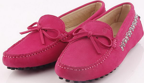 Tods Ballerina Suede Leather TO253 Rose