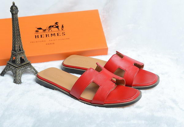 Hermes Slipper Leather HO0418 Red