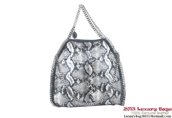 Stella McCartney Falabella Snake PVC Fold Over Tote Bag 809 Grey