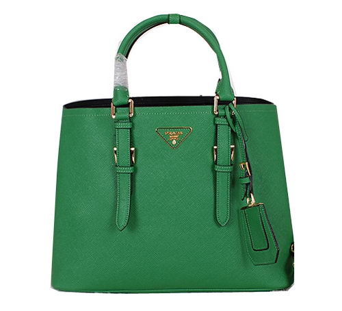 Prada Saffiano Cuir Leather Tote Bag BN2820 Green