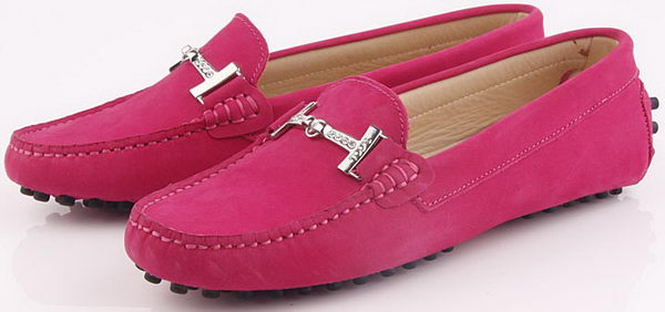 Tods Ballerina Suede Leather TO248 Rose
