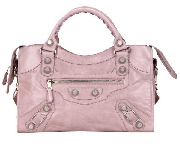 Balenciaga Medium Classic Giant Silver Part Time Bag 085332A Light Pink