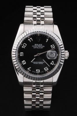 Rolex Datejust Silver Bezel&Black Surface Watch-RD2393
