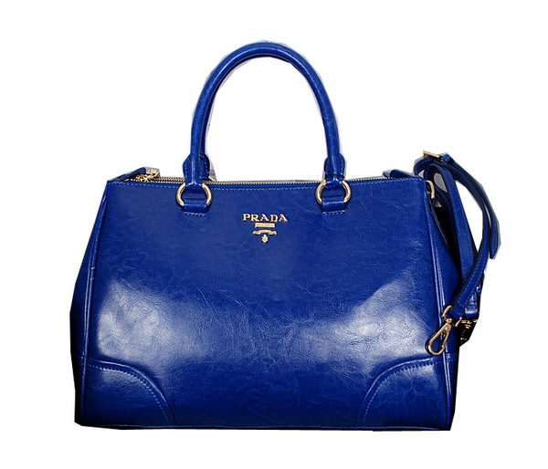 PRADA Original Leather Tote Bag BN2324 Blue
