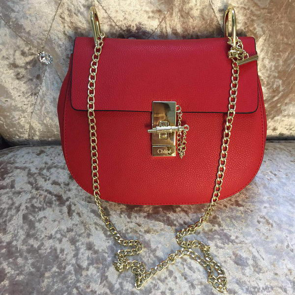 CHLOE Drew Calfskin Leather Shoulder Bags 30350S Red