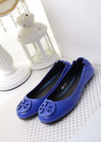 Tory Burch Ballerina Sheepskin Leather TB1490 Blue