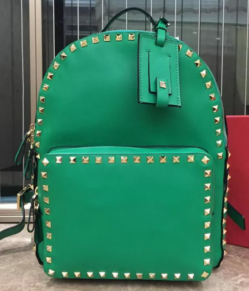 Valentino Garavani Rockstud Original Leather Backpack VL830 Green