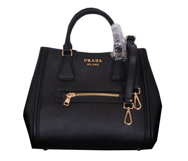 Prada Original Calf Leather Tote Bag BN0653 Black