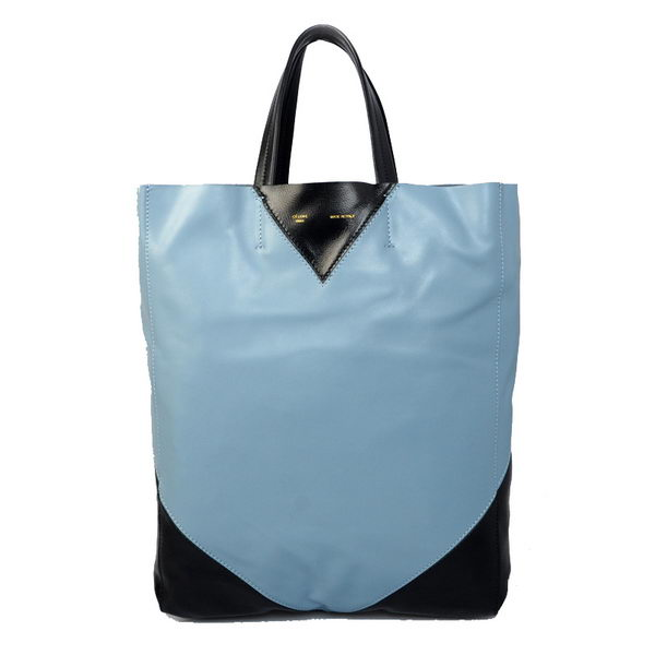 Celine Cabas CCEUR Bag in Smooth Lambskin Leather 16440 Light Blue