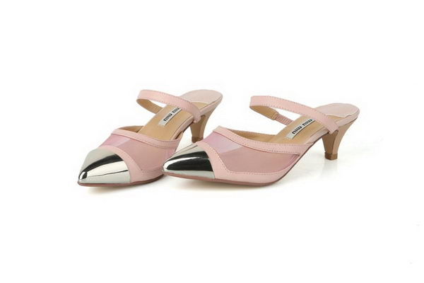 miu miu Sheepskin Leather Pump MM303 Pink
