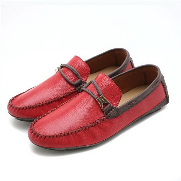 Hermes Calfskin Leather Men Casual Shoes HO0348 Red