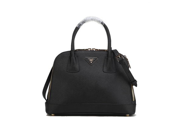 Prada BN2593 Black Saffiano Calf Leather Tote Bag