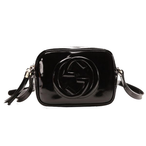 Gucci Soho Disco Bag Patent Leather 308364 Black
