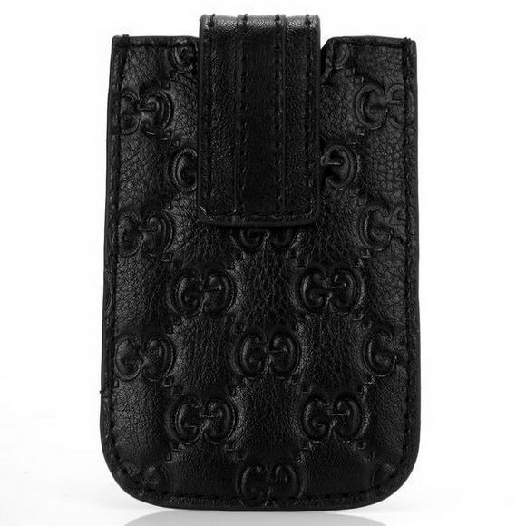 Gucci Embossed Leather iphone Case 210188 Black