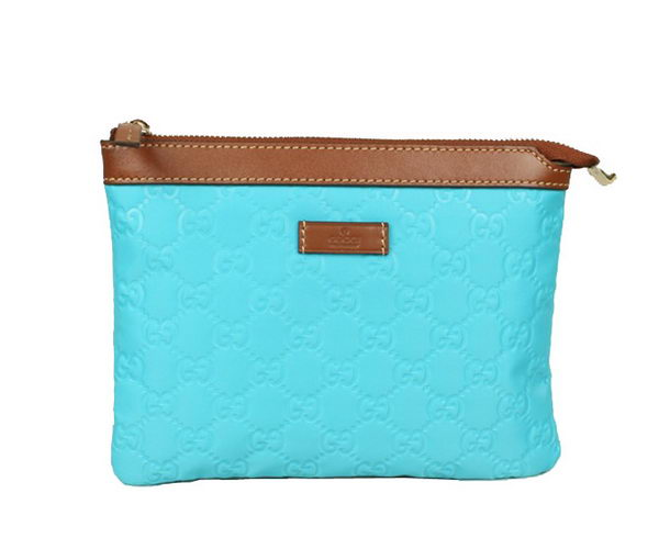 Gucci Cosmetic Bags Zip-Top Pouch 282071 Light Blue