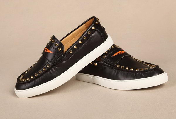Hermes Spike Men Flat HO0332 Black