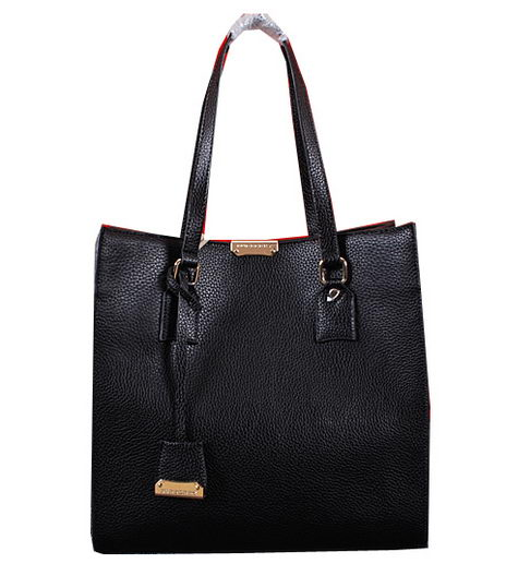 BurBerry Shoulder Bag Calfskin Leather BU8671 Black