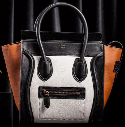 Celine Luggage Mini Tote Bag Original Goat Leather CLS3308 White&Black&Brown