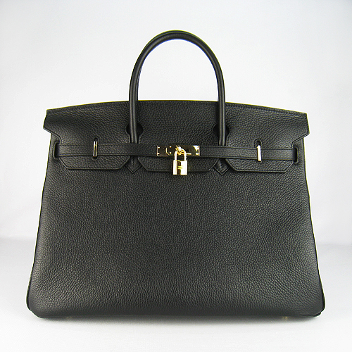 Hermes Birkin 40CM Togo Bag Black 6099 Gold