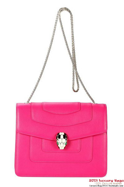 BVLGARI Shoulder Bag Nappa Leather 35042 Rosy