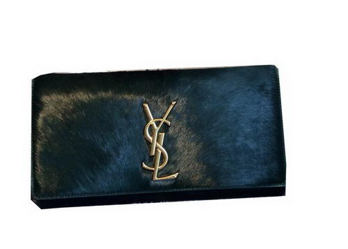 YSL Classic Monogramme Clutch Horse Hair 311213 Green